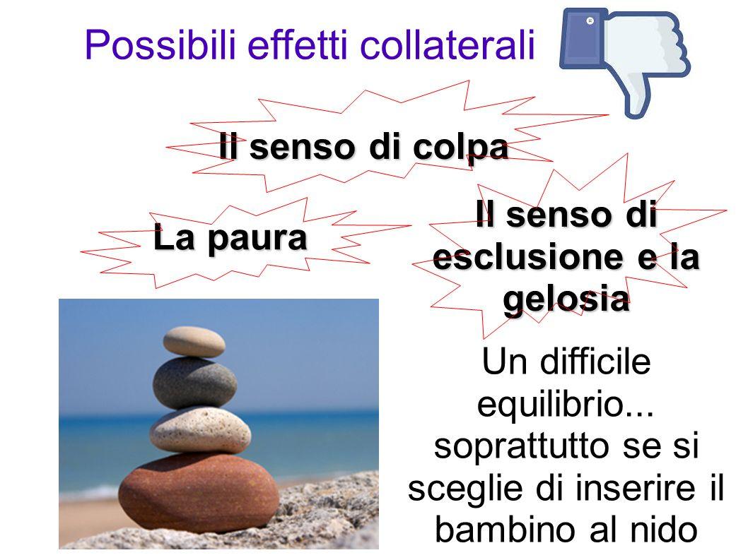 Il senso di colpa La paura Il senso di esclusione e la gelosia Un difficile equilibrio...