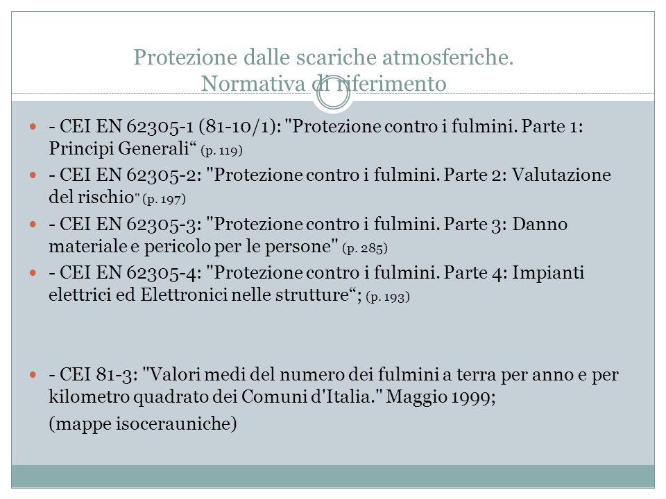 Protezione dalle scariche atmosferiche. Normativa di riferimento - CEI EN 62305-1 (81-10/1):