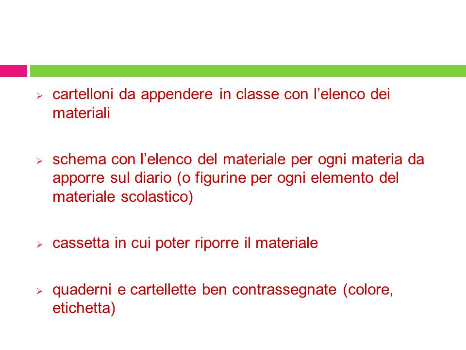  cartelloni da appendere in classe con l'elenco dei materiali  schema con l'elenco del materiale per ogni materia da apporre sul diario (o figurine
