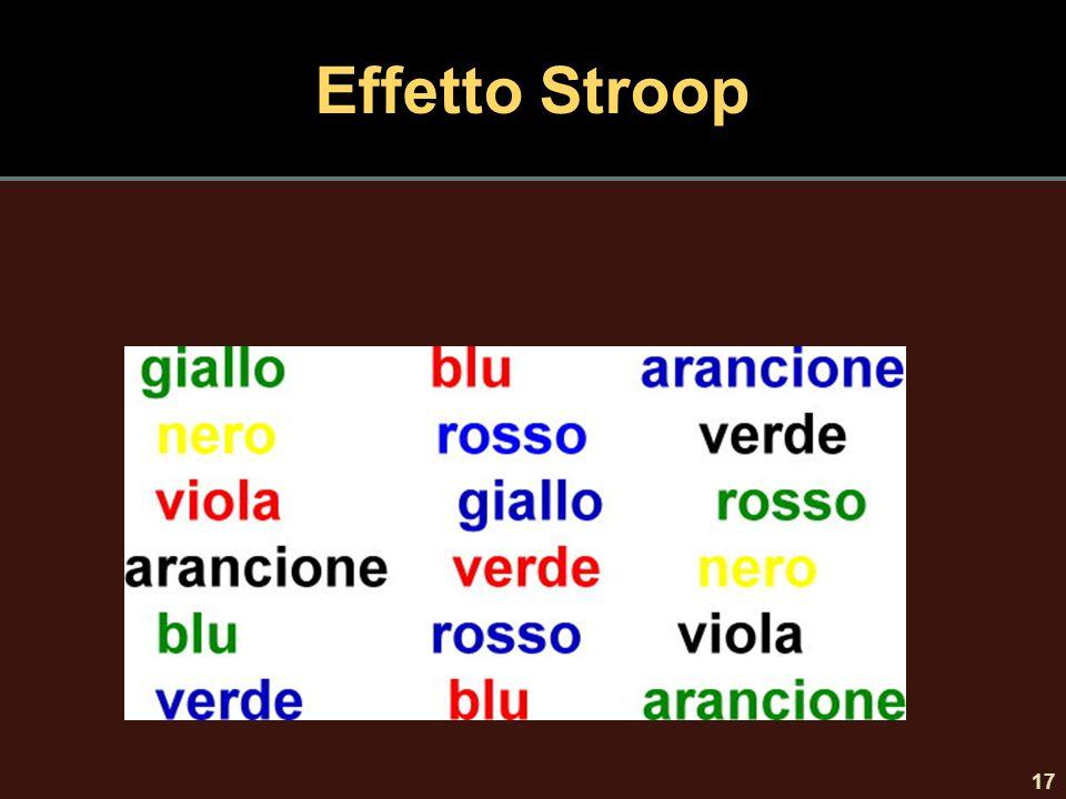 Effetto Stroop 17