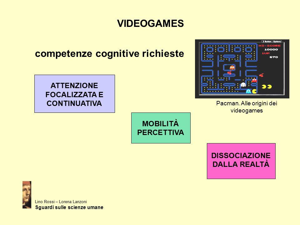 VIDEOGAMES competenze cognitive richieste Lino Rossi – Lorena Lanzoni Sguardi sulle scienze umane ATTENZIONE FOCALIZZATA E CONTINUATIVA MOBILITÀ PERCE