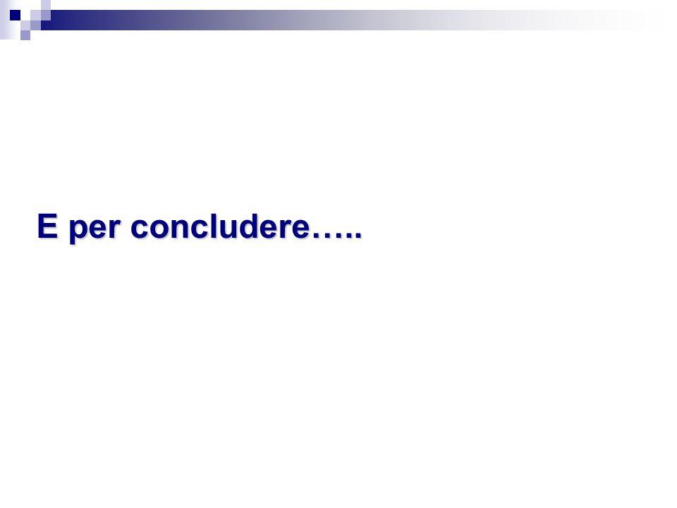 E per concludere…..