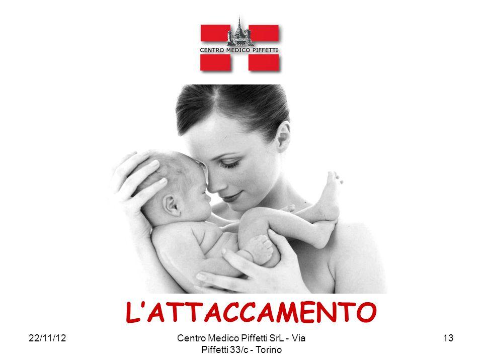 22/11/12Centro Medico Piffetti SrL - Via Piffetti 33/c - Torino 13 L'ATTACCAMENTO