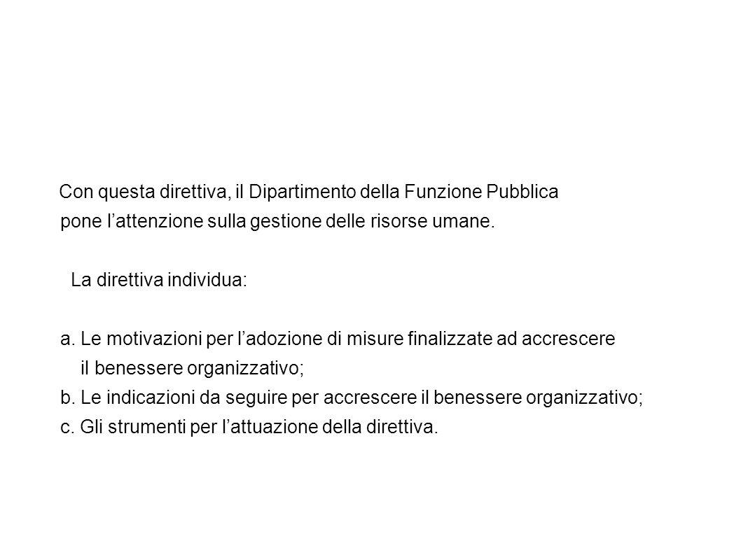 Con questa direttiva, il Dipartimento della Funzione Pubblica pone l'attenzione sulla gestione delle risorse umane.