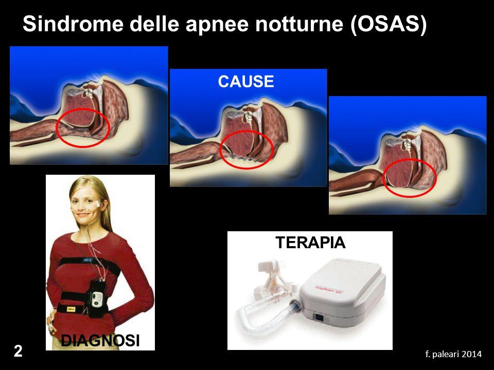 Sindrome delle apnee notturne (OSAS) f. paleari 2014 2 DIAGNOSI TERAPIA CAUSE