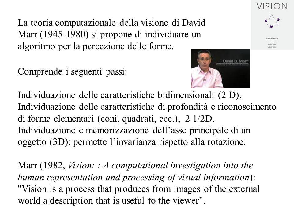 Comprende i seguenti passi: Individuazione delle caratteristiche bidimensionali (2 D). Individuazione delle caratteristiche di profondità e riconoscim