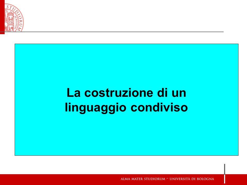 La costruzione di un linguaggio condiviso