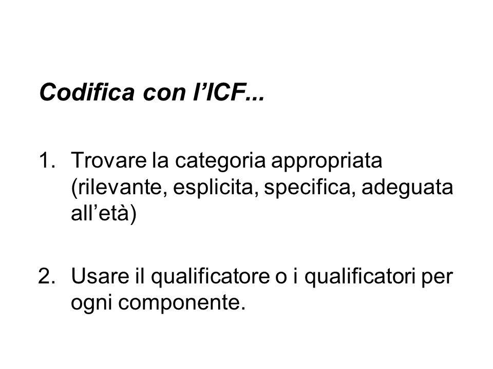 Codifica con l'ICF...