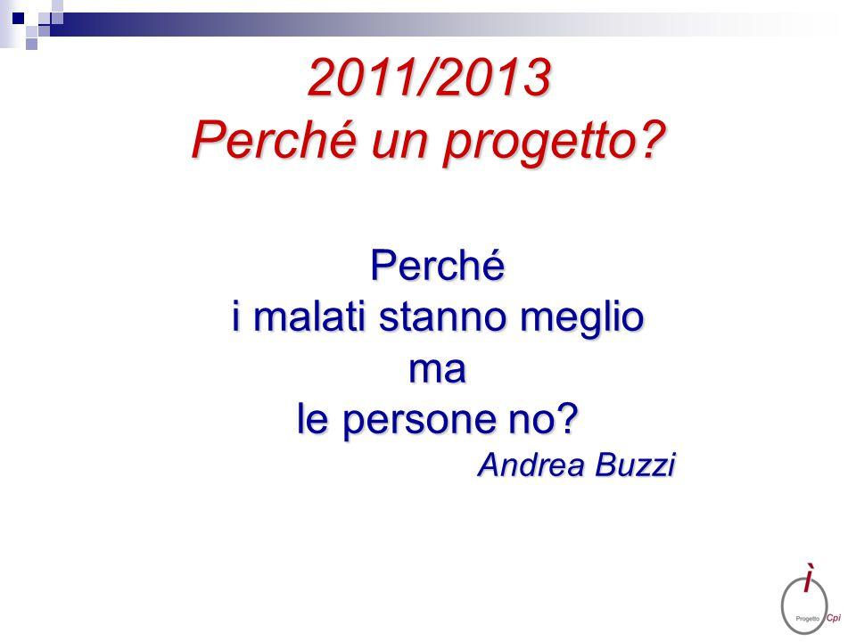 2011/2013 Perché un progetto? Perché i malati stanno meglio ma le persone no? Andrea Buzzi Andrea Buzzi
