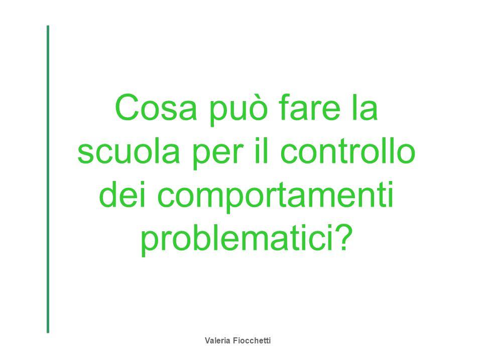 Valeria Fiocchetti Cosa può fare la scuola per il controllo dei comportamenti problematici?