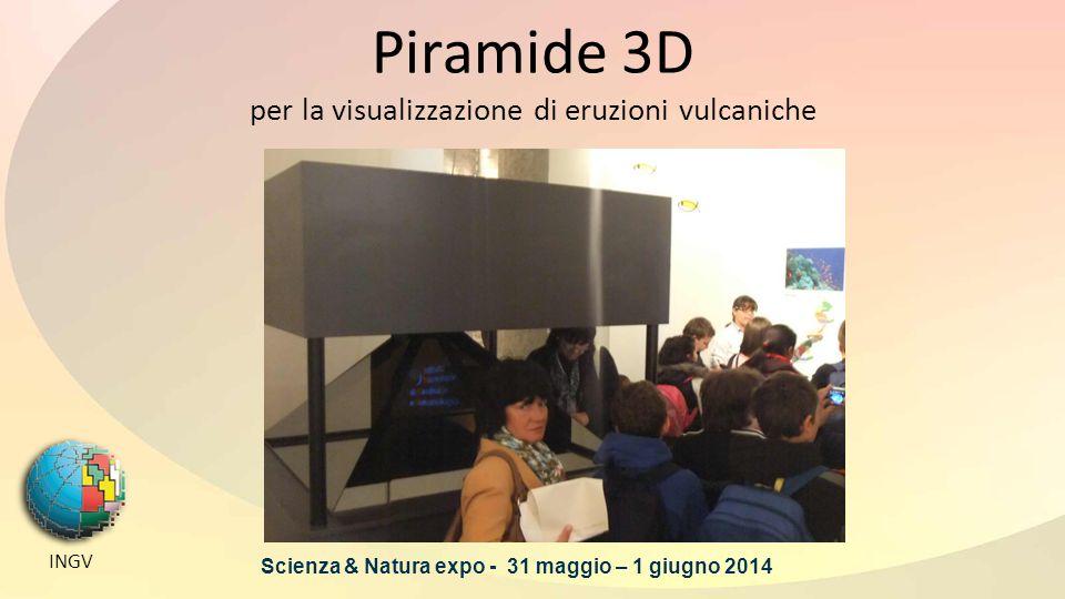 Piramide 3D per la visualizzazione di eruzioni vulcaniche INGV Scienza & Natura expo - 31 maggio – 1 giugno 2014