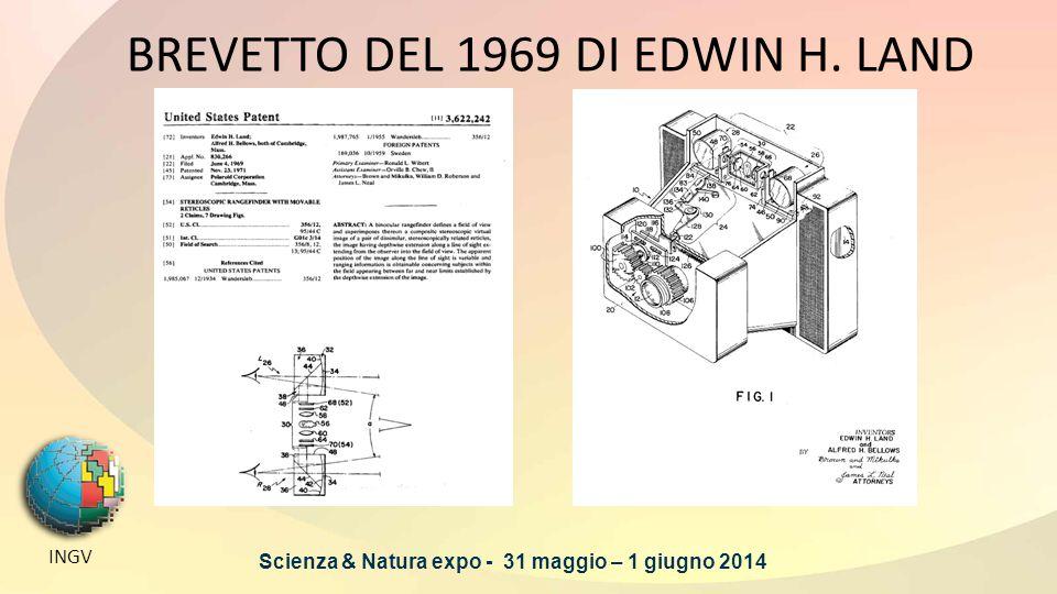 BREVETTO DEL 1969 DI EDWIN H. LAND INGV Scienza & Natura expo - 31 maggio – 1 giugno 2014