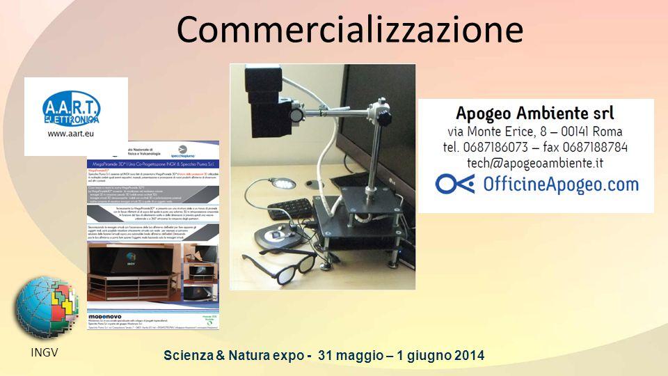 Commercializzazione INGV Scienza & Natura expo - 31 maggio – 1 giugno 2014