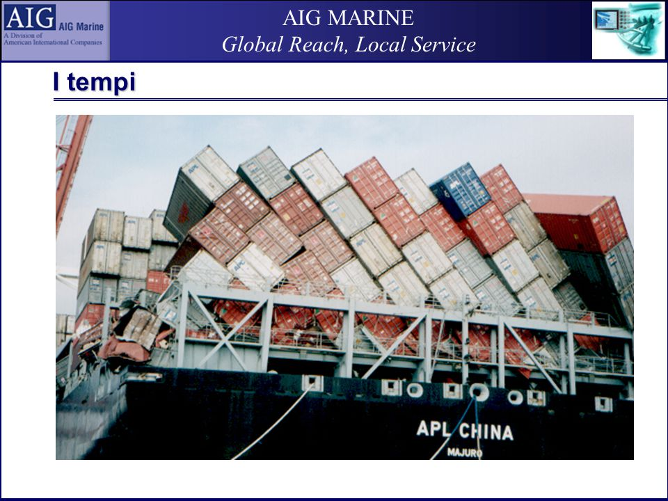 AIG MARINE Global Reach, Local Service I tempi