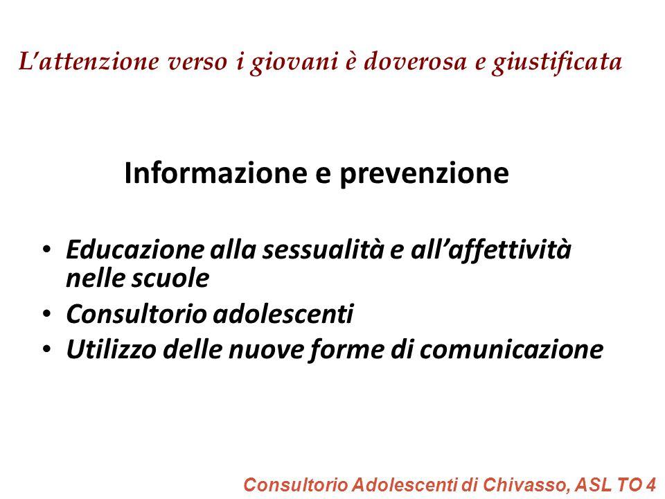 Padova, 17 maggio 2011 L'attenzione verso i giovani è doverosa e giustificata Informazione e prevenzione Educazione alla sessualità e all'affettività