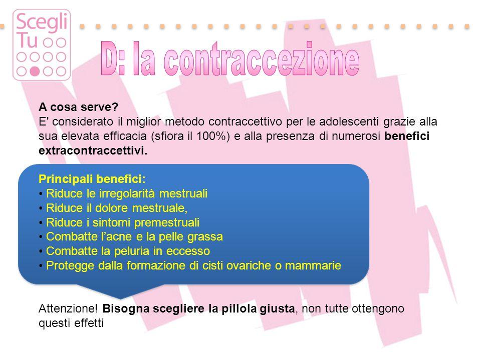 Padova, 17 maggio 2011 A cosa serve? E' considerato il miglior metodo contraccettivo per le adolescenti grazie alla sua elevata efficacia (sfiora il 1