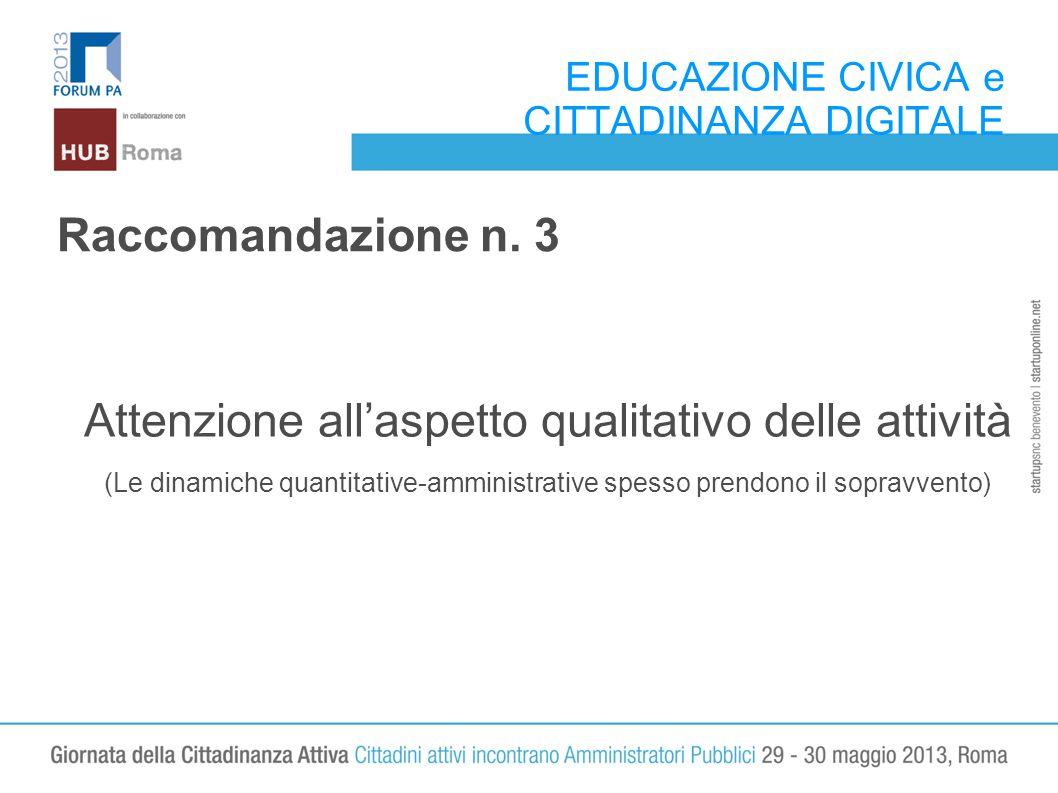 EDUCAZIONE CIVICA e CITTADINANZA DIGITALE Raccomandazione n.