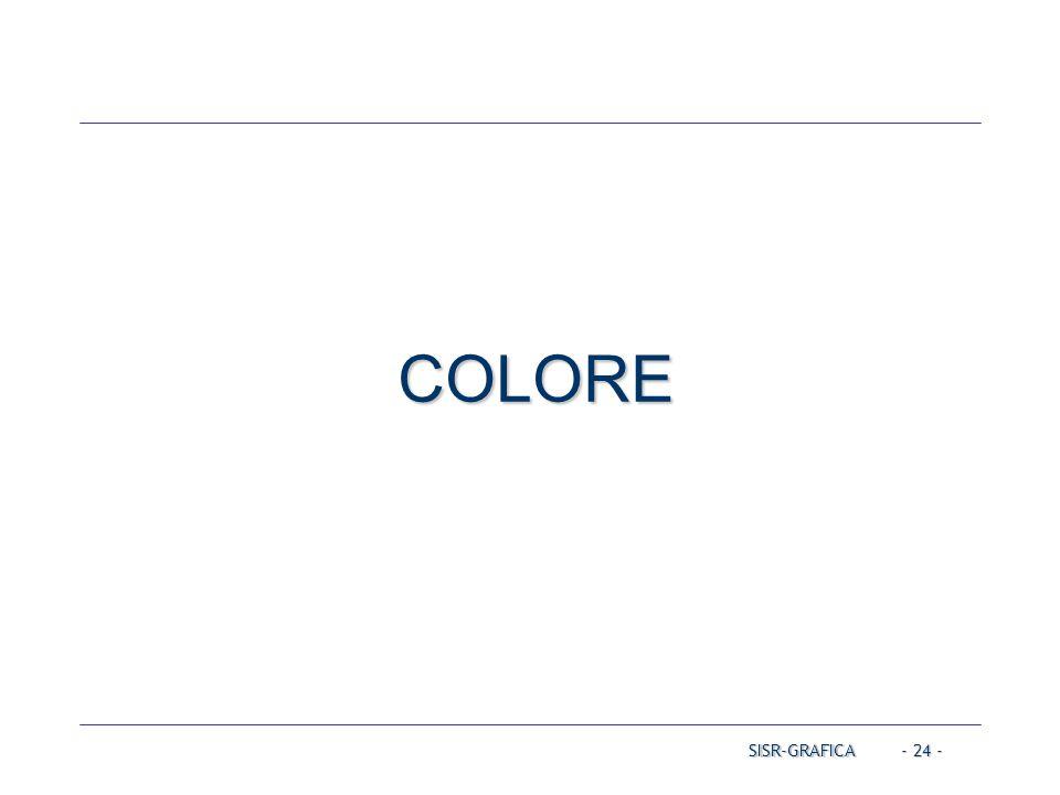 - 24 - COLORE SISR-GRAFICA