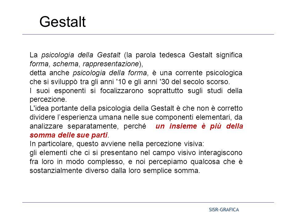 La psicologia della Gestalt (la parola tedesca Gestalt significa forma, schema, rappresentazione), detta anche psicologia della forma, è una corrente
