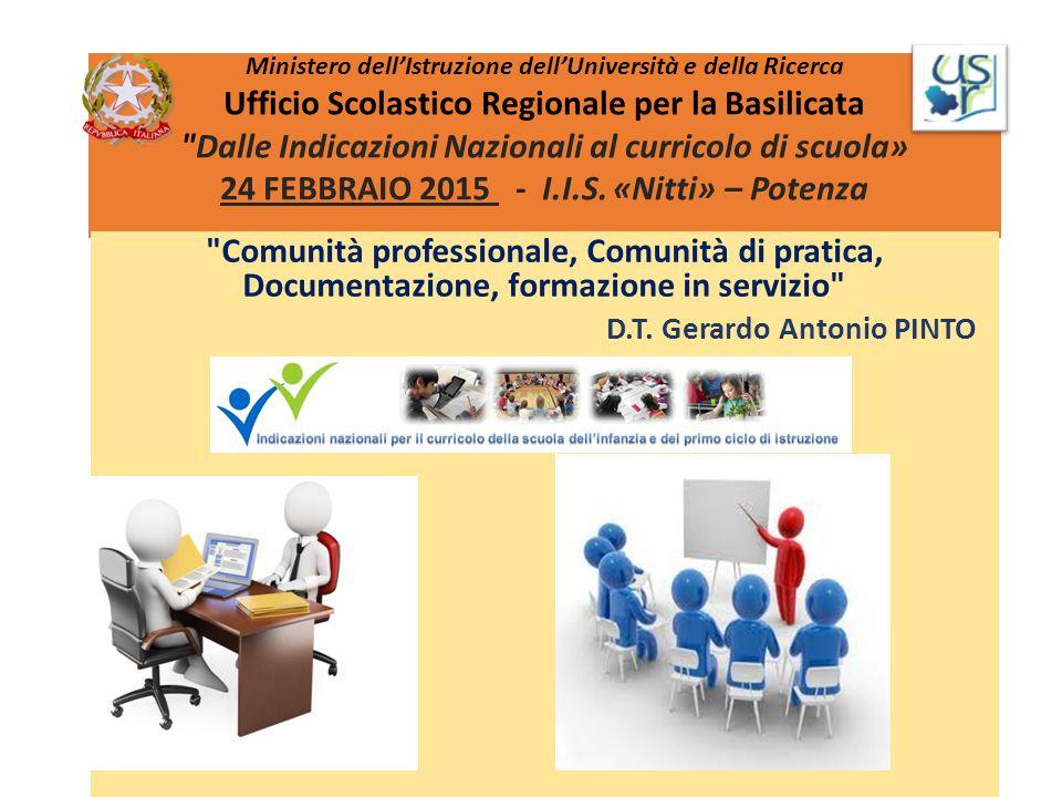 Ministero dell'Istruzione dell'Università e della Ricerca Ufficio Scolastico Regionale per la Basilicata