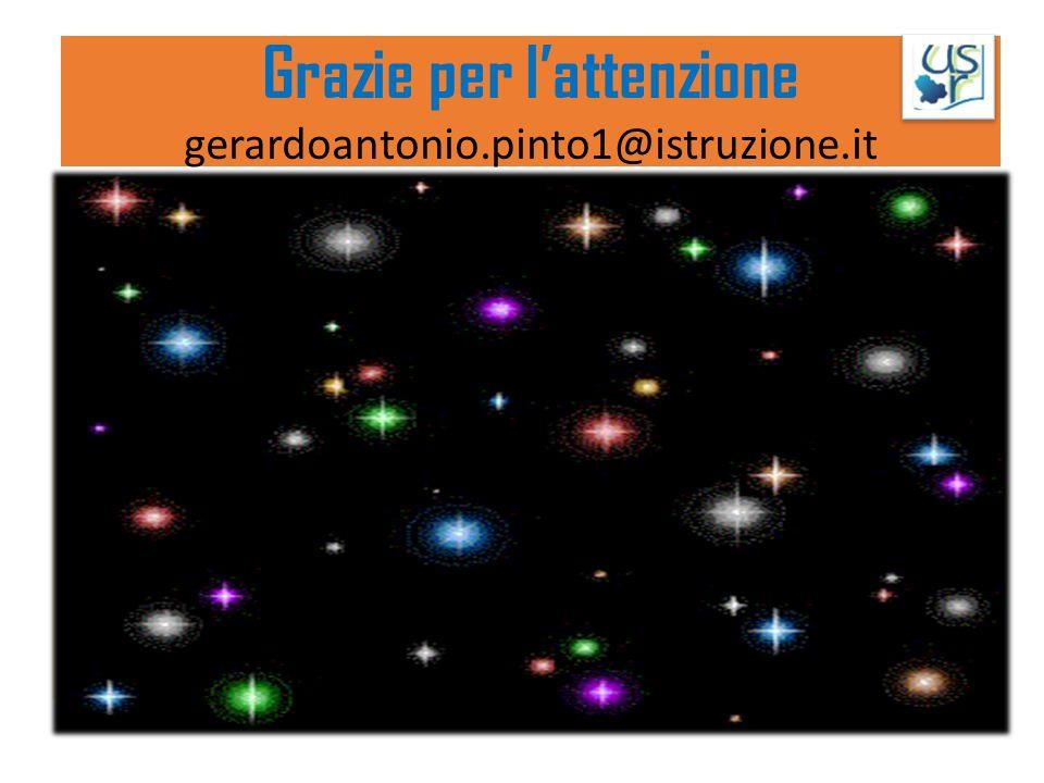 Grazie per l'attenzione gerardoantonio.pinto1@istruzione.it GRAZIE PER L'ATTENZIONE