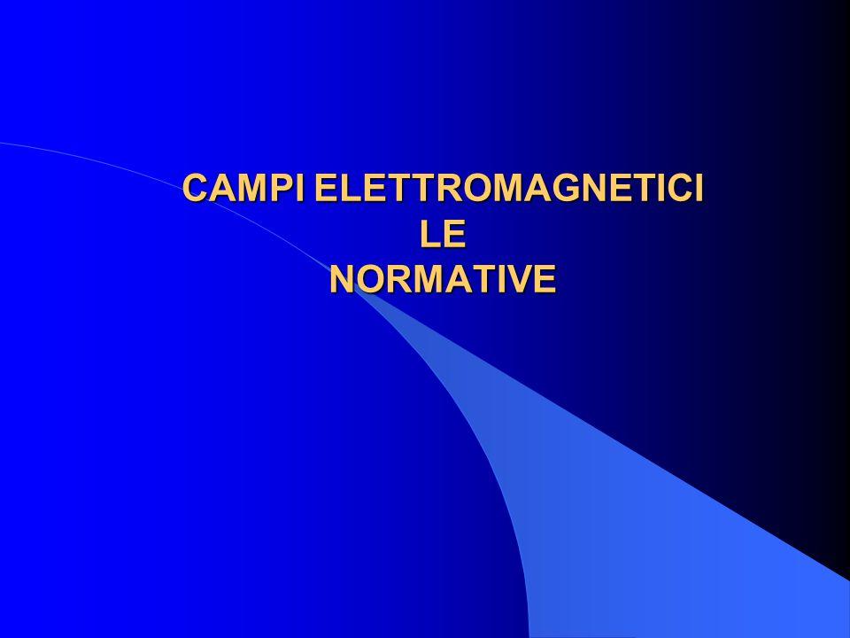 CAMPI ELETTROMAGNETICI LE NORMATIVE