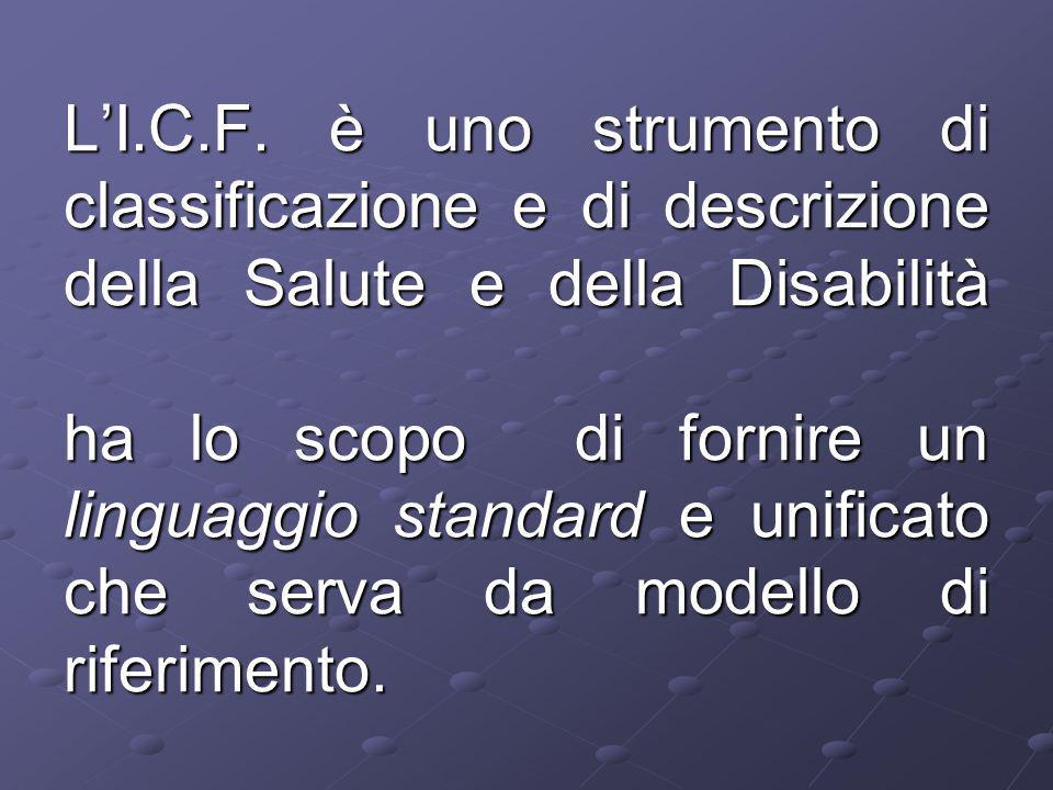 L'ICF propone una radicale scissione tra fattori causativi e fattori di mantenimento di una disabilità. ponendo sullo stesso piano le patologie a pres