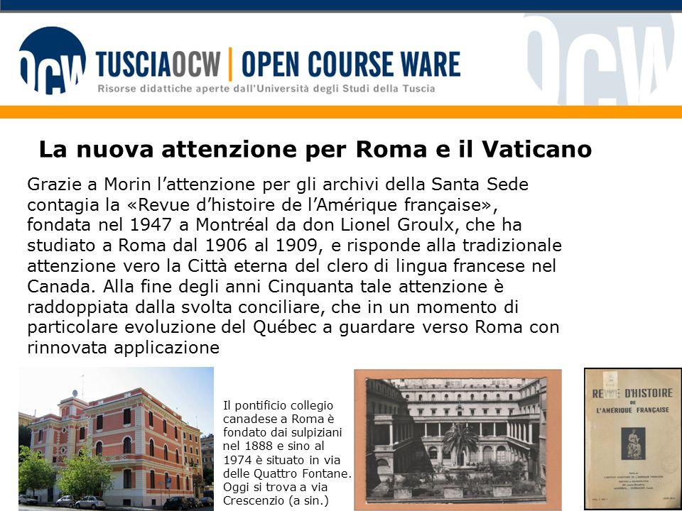 Hurtubise In questo contesto inizia a studiare a Roma Pierre Hurtubise, omi, che prende una licenza in storia della Chiesa alla Gregoriana e utilizza gli archivi vaticani per la tesi di dottorato a Parigi.