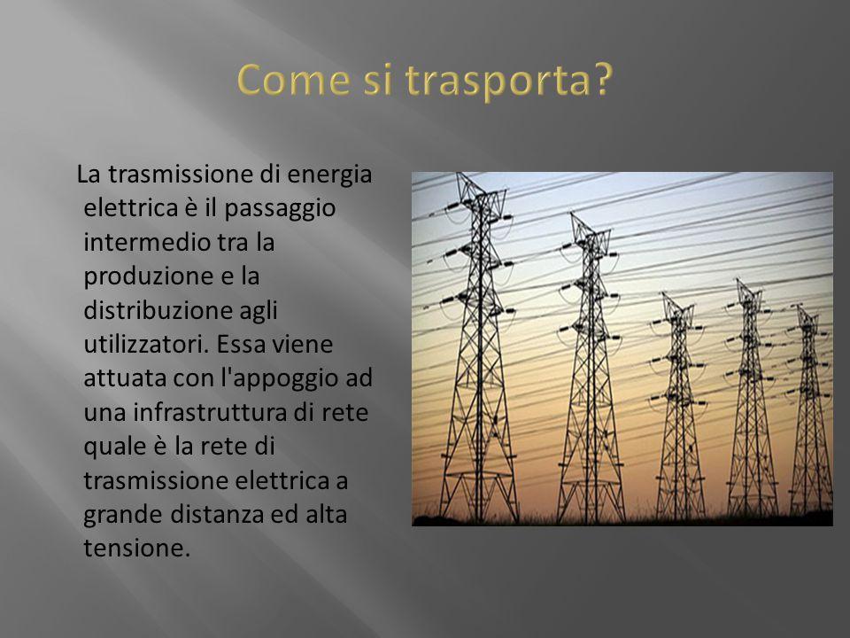 La trasmissione di energia elettrica è il passaggio intermedio tra la produzione e la distribuzione agli utilizzatori. Essa viene attuata con l'appogg