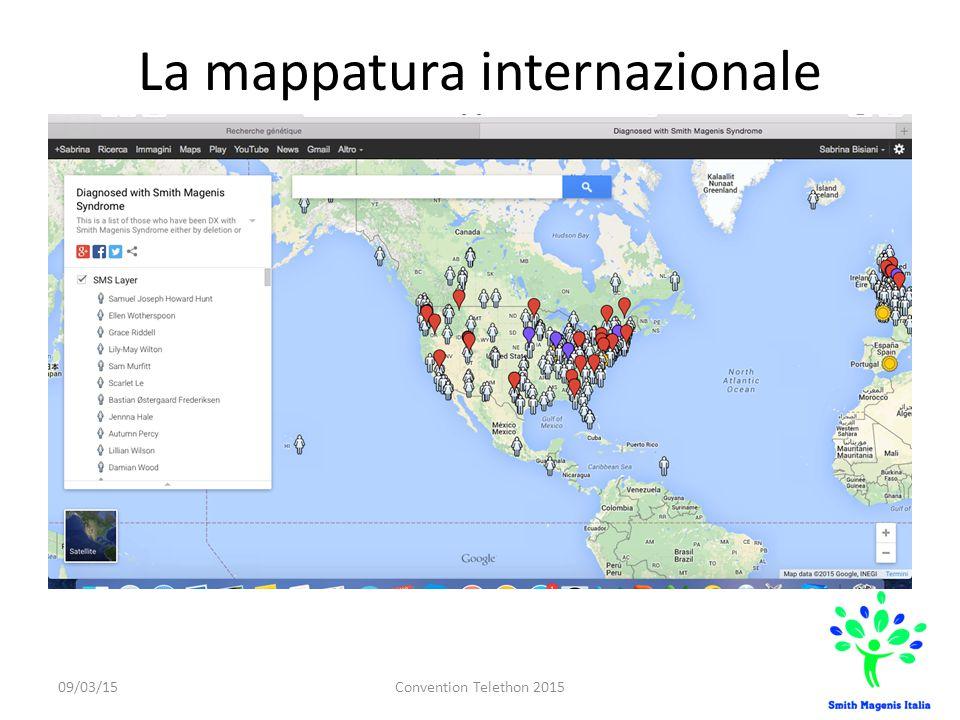 La mappatura internazionale 09/03/15Convention Telethon 2015