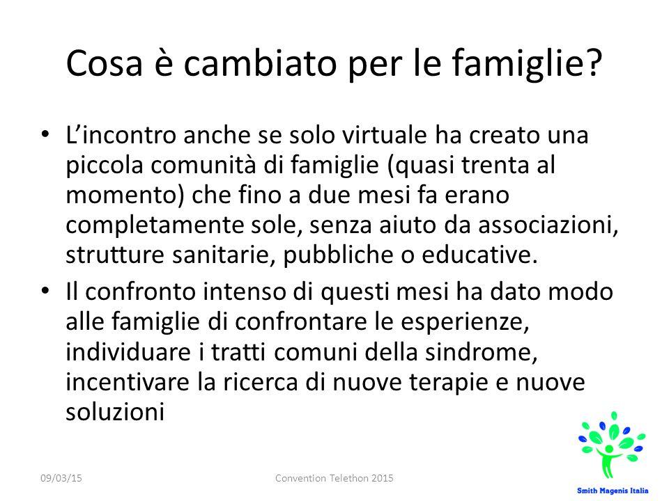 Cosa è cambiato per le famiglie? L'incontro anche se solo virtuale ha creato una piccola comunità di famiglie (quasi trenta al momento) che fino a due