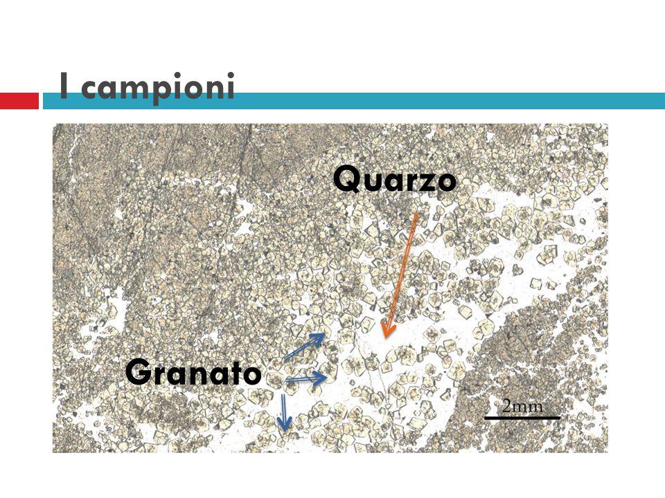 I campioni Granato Quarzo