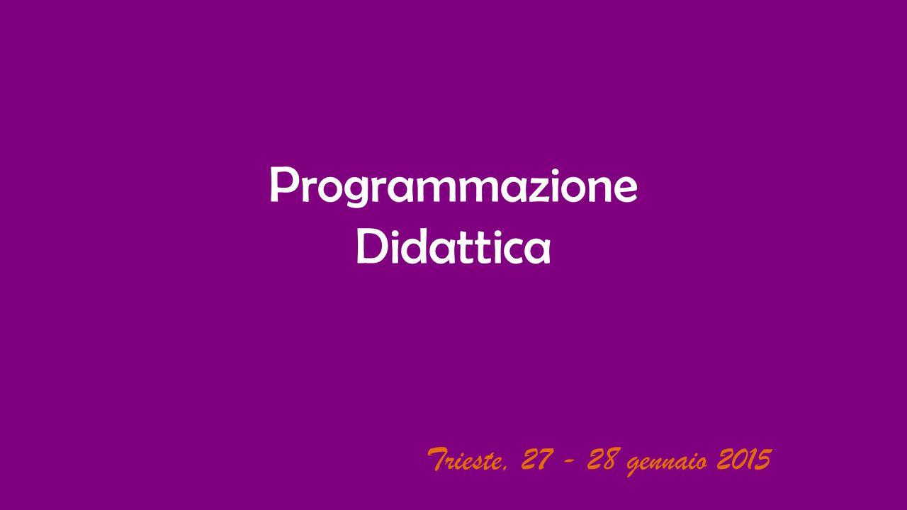Programmazione Didattica Trieste, 27 - 28 gennaio 2015