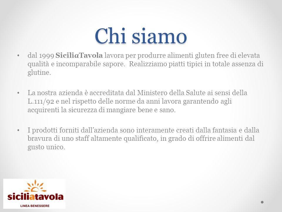 Chi siamo dal 1999 SiciliaTavola lavora per produrre alimenti gluten free di elevata qualità e incomparabile sapore.