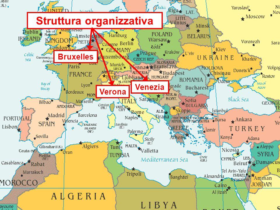 Struttura organizzativa Venezia Verona Bruxelles