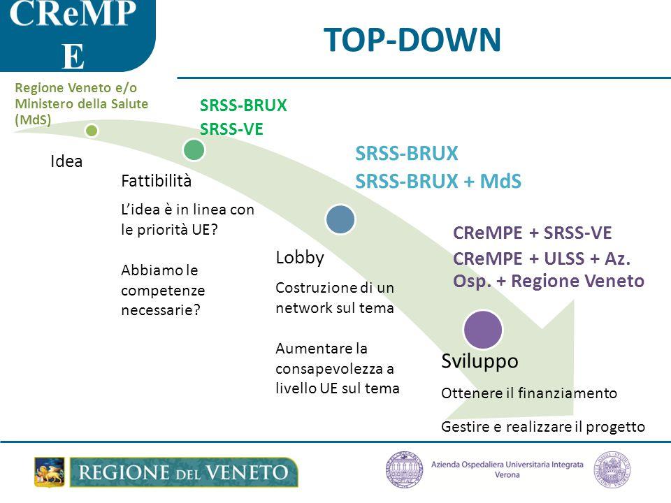 TOP-DOWN Idea Fattibilità L'idea è in linea con le priorità UE.