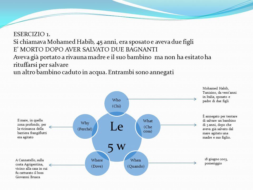 ESERCIZIO 1.