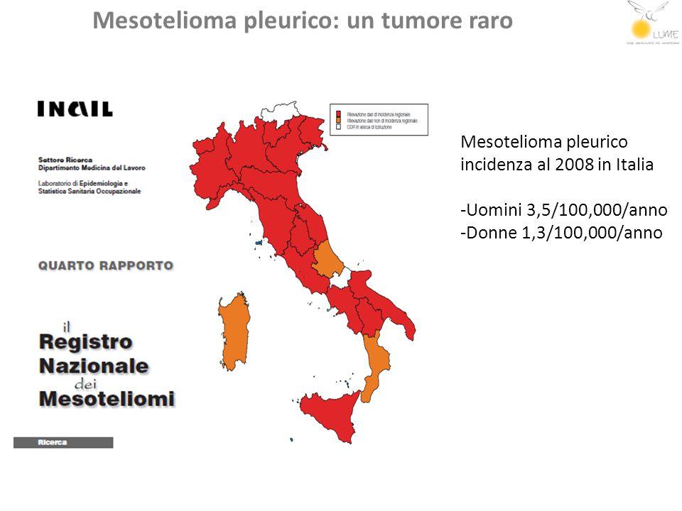 Mesotelioma pleurico: un tumore con diverse incidenze nelle aree italiane