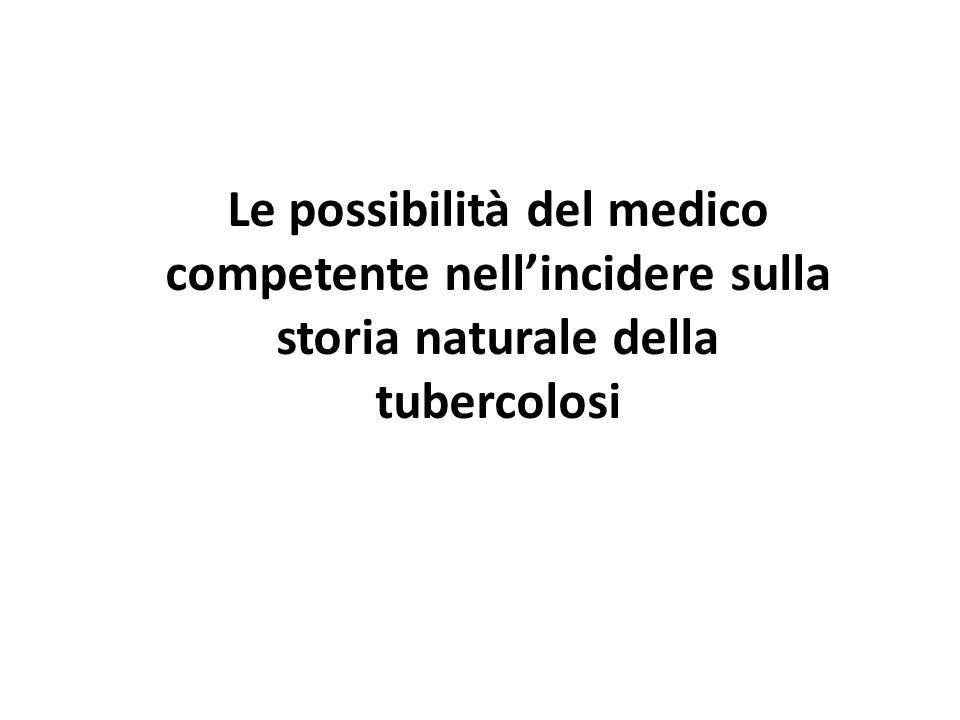 Le possibilità del medico competente nell'incidere sulla storia naturale della tubercolosi
