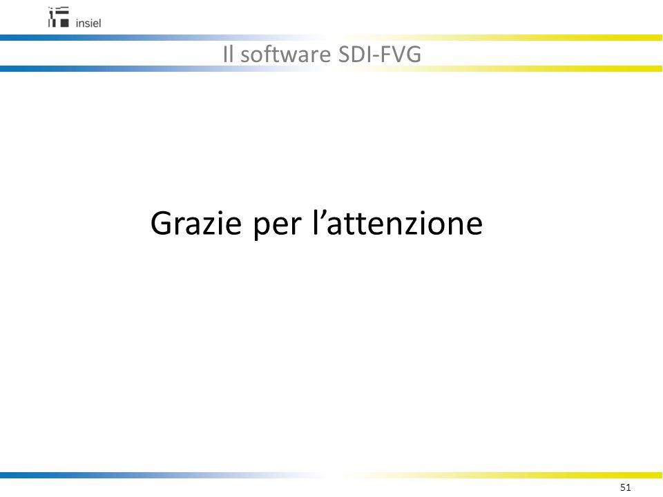 51 Il software SDI-FVG Grazie per l'attenzione