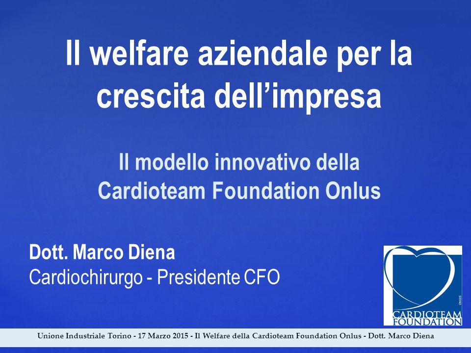 Il welfare aziendale per la crescita dell'impresa Il modello innovativo della Cardioteam Foundation Onlus Dott. Marco Diena Cardiochirurgo - President