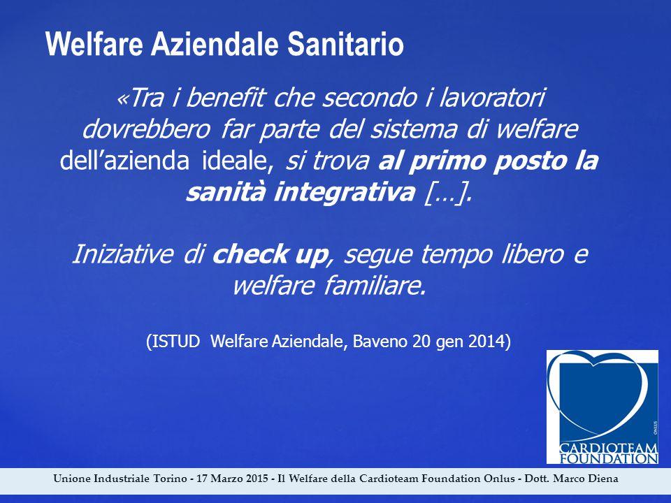 Unione Industriale Torino - 17 Marzo 2015 - Il Welfare della Cardioteam Foundation Onlus - Dott. Marco Diena « Tra i benefit che secondo i lavoratori