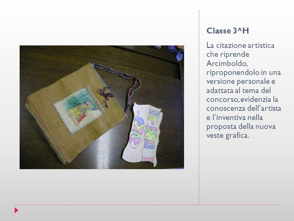 Classe 3^H La citazione artistica che riprende Arcimboldo, riproponendolo in una versione personale e adattata al tema del concorso, evidenzia la cono