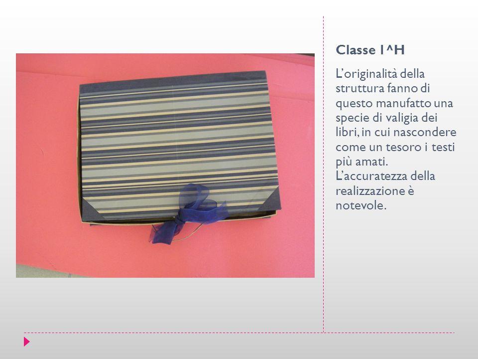 Classe 1^H L'originalità della struttura fanno di questo manufatto una specie di valigia dei libri, in cui nascondere come un tesoro i testi più amati