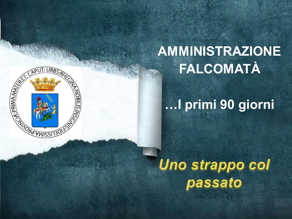 Comune di Reggio Calabria IL SINDACO GIUSEPPE FALCOMATÀ La Giunta Il Consiglio Comunale