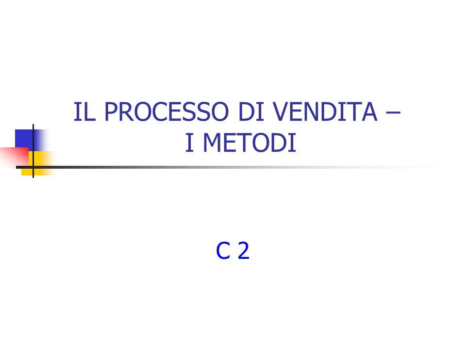 IL PROCESSO DI VENDITA – I METODI C 2
