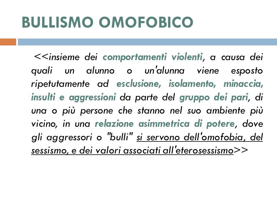 BULLISMO OMOFOBICO >