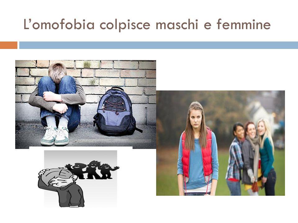 L'omofobia colpisce maschi e femmine