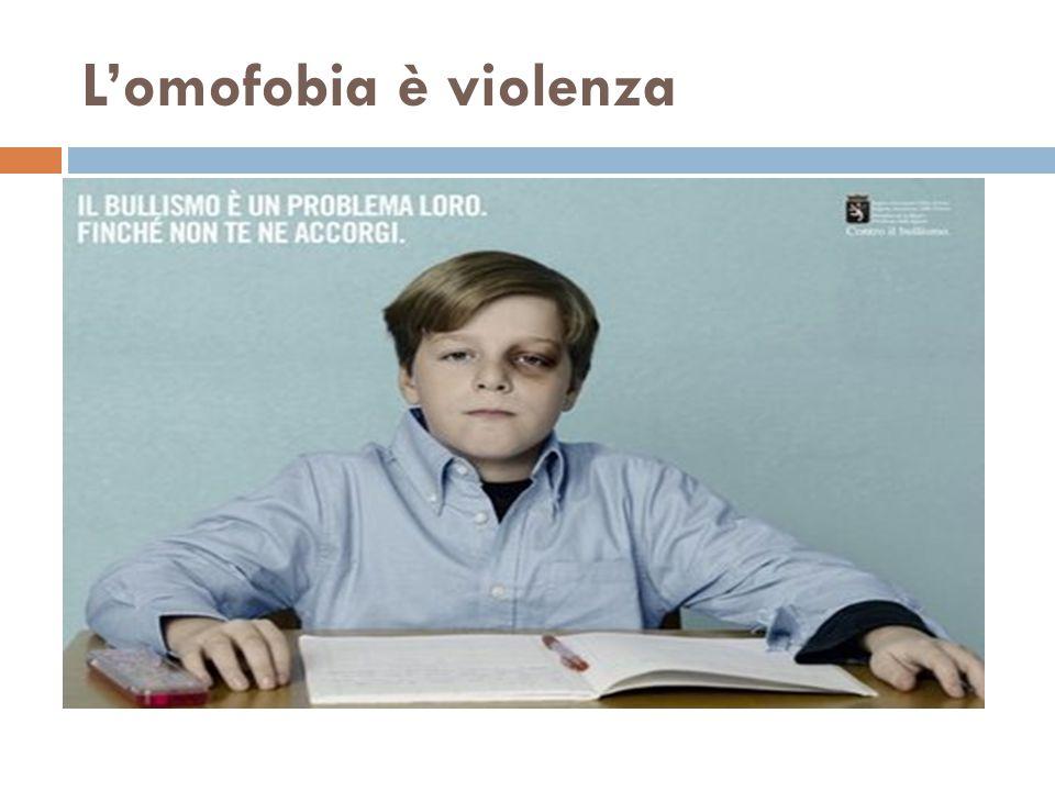 L'omofobia è violenza