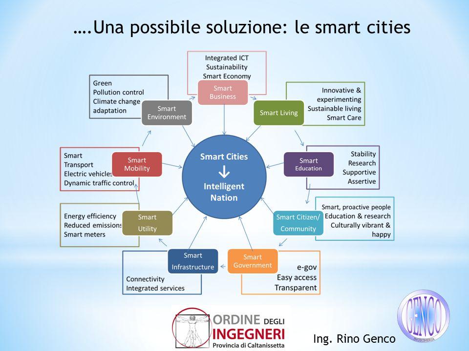 Ing. Rino Genco ….Una possibile soluzione: le smart cities